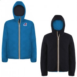 Giacca Corta Reversibile Inv. KWAY JACQUES WARM DOUBLE SHEARLING K009M90 Blue FBlue Junior